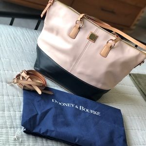 Dooney & Bourke Two Tone Pink/ Blue Tote Bag